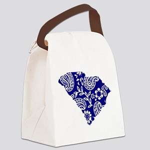 Blue Paisley Canvas Lunch Bag