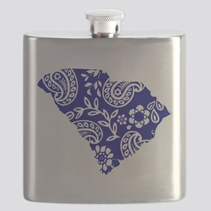 Blue Paisley Flask