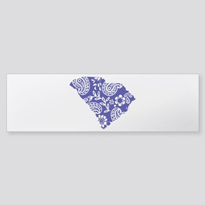 Blue Paisley Sticker (Bumper)