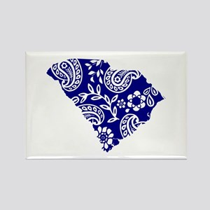 Blue Paisley Rectangle Magnet