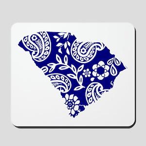 Blue Paisley Mousepad