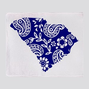 Blue Paisley Throw Blanket
