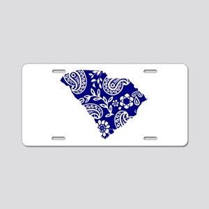 Blue Paisley Aluminum License Plate