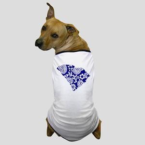 Blue Paisley Dog T-Shirt