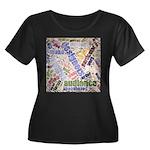 Graphic Design Word Cloud Plus Size T-Shirt