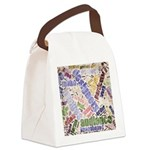Graphic Design Word Cloud Canvas Lunch Bag