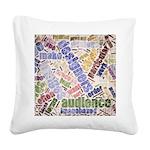 Graphic Design Word Cloud Square Canvas Pillow
