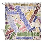 Graphic Design Word Cloud Shower Curtain