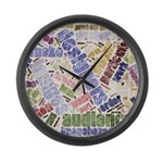 Graphic Design Word Cloud Large Wall Clock