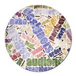 Graphic Design Word Cloud Round Car Magnet