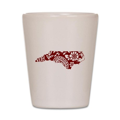 Red Paisley Shot Glass
