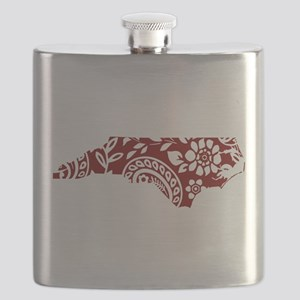 Red Paisley Flask