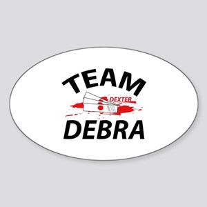 Team Debra - Dexter Sticker (Oval)