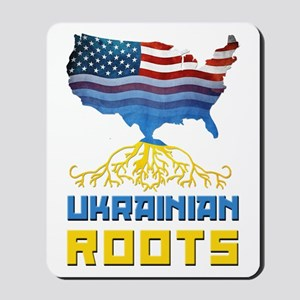 American Ukrainian Roots Mousepad