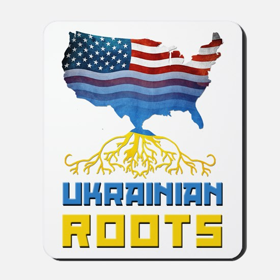 American Ukrainian Roots Mousepad