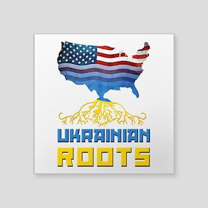 American Ukrainian Roots Sticker