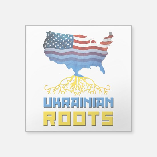 American Ukrainian Roots Sticker