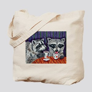 Raccoons at the Cafe Tote Bag