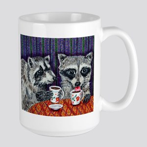 Raccoons at the Cafe Mug