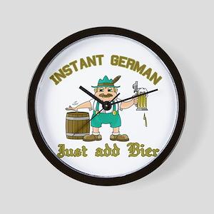 Instant German Just Add Bier Wall Clock