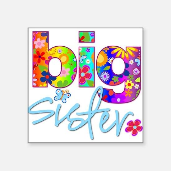big sister t-shirt flower Rectangle Sticker