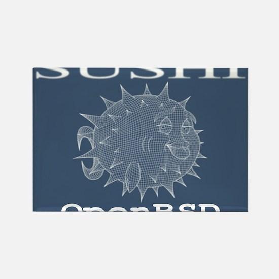 Bsd Fish Rectangle Magnet