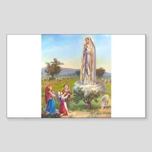 Our Lady of Fatima Rectangle Sticker