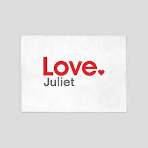 Love Juliet 5'x7'Area Rug