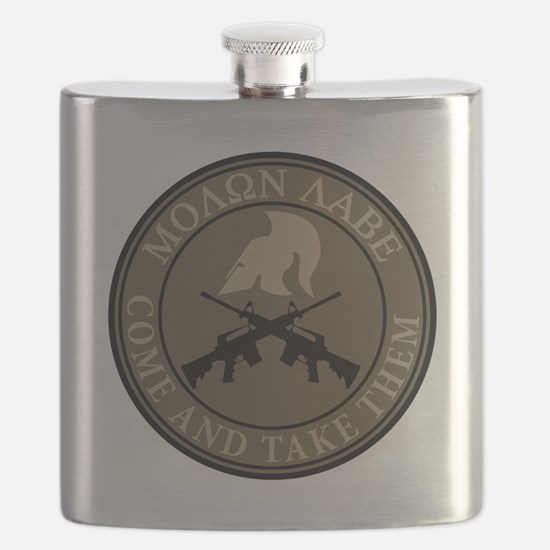 Molon Labe, Come and Take Them Flask