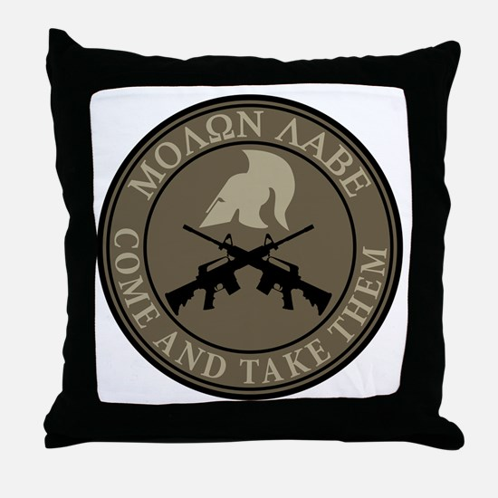 Molon Labe, Come and Take Them Throw Pillow