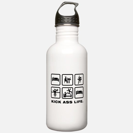 Bass Cymbal Player Water Bottle