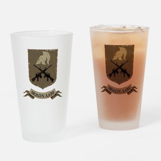 Molon Labe, Come and Take Them Drinking Glass