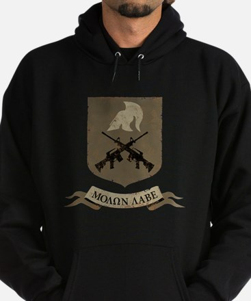 Molon Labe, Come and Take Them Hoodie (dark)