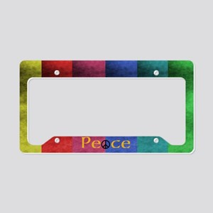 Peace License Plate Holder