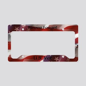 Never Forget U.S. Vet License Plate Holder