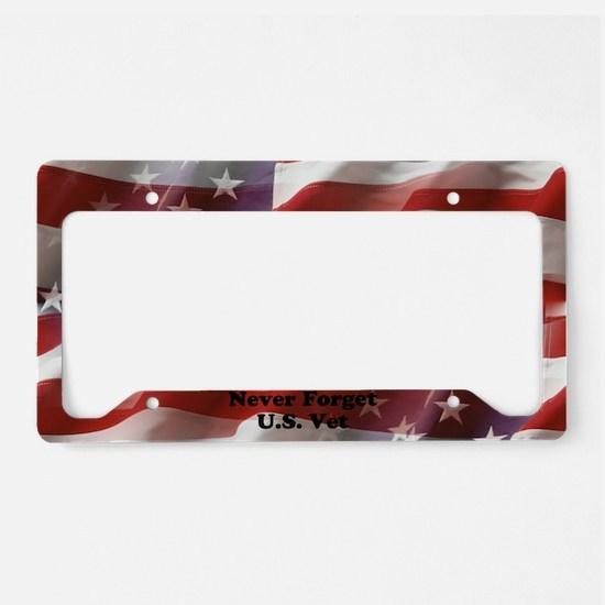 Never Forget U.S. Vet License Plate Holder