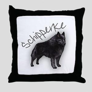 Schipperke 1 Throw Pillow