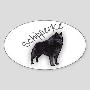 Schipperke 1 Oval Sticker
