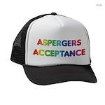 Aspergers Acceptance Kids Trucker hat