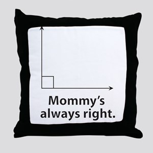 Mommys always right Throw Pillow