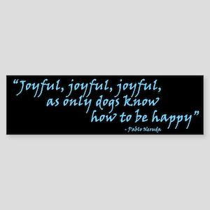 Joyful! Text Bumper Sticker