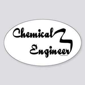 Chemical Engineer Oval Sticker