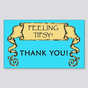 Feeling Tipsy Tipjar Rectangle Sticker