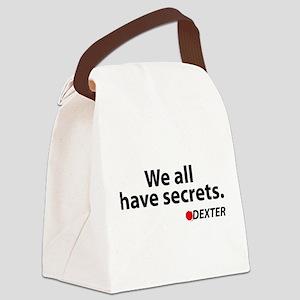 We all have secrets. Dexter. Canvas Lunch Bag