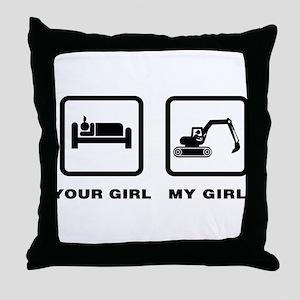 Digger Throw Pillow