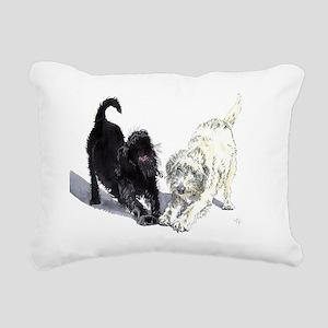 Stretching Labradoodles Rectangular Canvas Pillow
