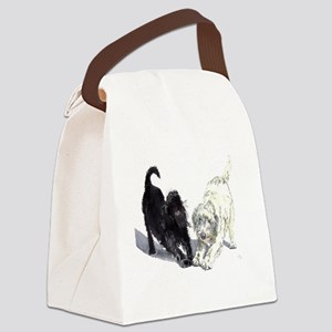Stretching Labradoodles Canvas Lunch Bag