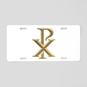 Golden 3-D Chiro Aluminum License Plate