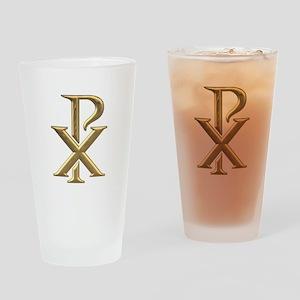 Golden 3-D Chiro Drinking Glass
