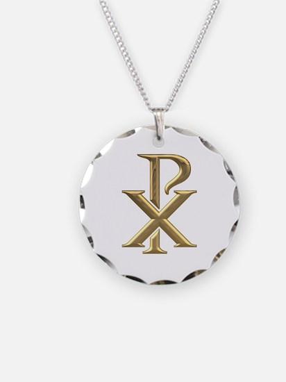 Golden 3-D Chiro Necklace